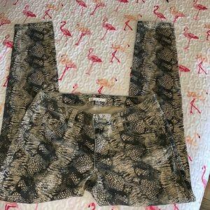 CAbi Snake Skin Print Skinny Jeans